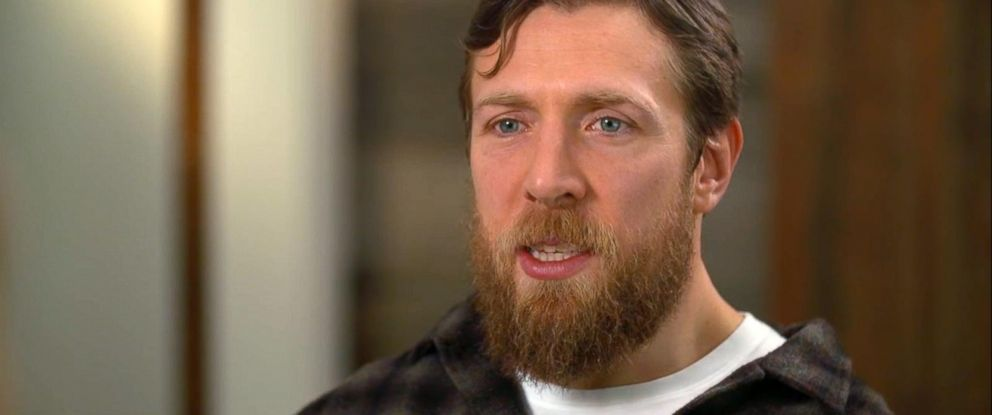 PHOTO: Wrestling star Daniel Bryan appears on Good Morning America to talk about why he decided to retire from the sport.