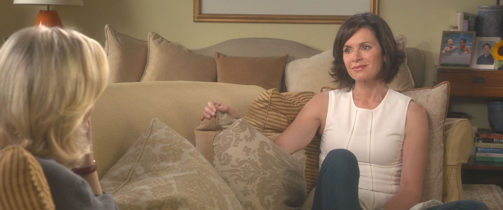 "ABC News ""20/20"" anchor Elizabeth Vargas is shown here during an interview with Diane Sawyer for a special edition of ""20/20."""