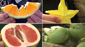 PHOTO Some unusual fruits and vegetables have varying health benefits.