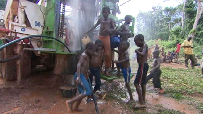 VIDEO: Drilling for Water in Africa
