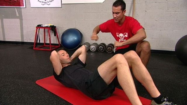 VIDEO: Dan Kloeffler heads to Fit Republic for an intense ab workout.