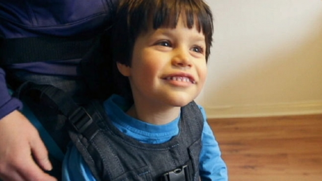 Upsee is an upright standing mobility product used to help special needs children.