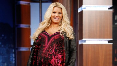 PHOTO: Jessica Simpson appears on Jimmy Kimmel Live, March 19, 2012, on ABC.