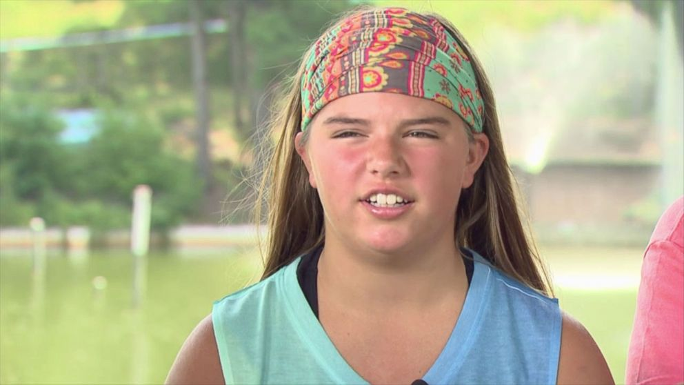 PHOTO: Kali Hardig, 13, is swimming again after she survived a brain-eating amoeba she contracted at an Arkansas water park.