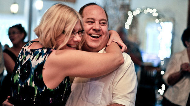PHOTO: Michael Calderone, shown here with his wife, no longer has migraine headaches because of a forehead lift.