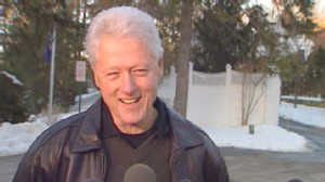 VIDEO: Former President Clinton tells reporters he feels good and is back to work.
