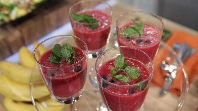 PHOTO: Bethenny Frankel's Pomegranate Smoothie.