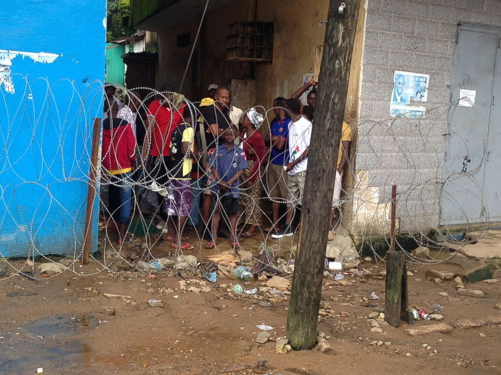 PHOTO: West Point, a slum of Monrovia, Liberia, seen on Aug. 27, 2014, has been quarantined during the Ebola outbreak.