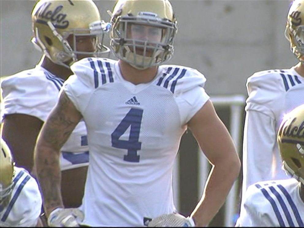 PHOTO: Football players at UCLA will wear sensor-laden helmets so that researchers can learn more about concussions.
