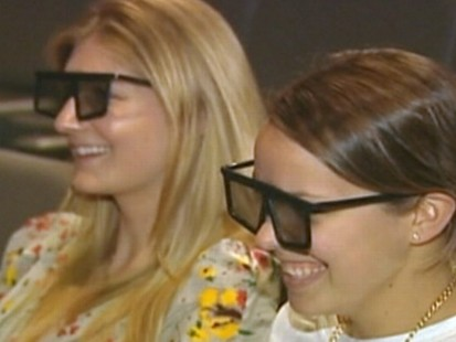 VIDEO: Even when wrapped in plastic, 3-D glasses pose a bacterial risk to moviegoers.