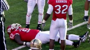 VIDEO: Eric LeGrand was paralyzed from the neck down during football game against Army.