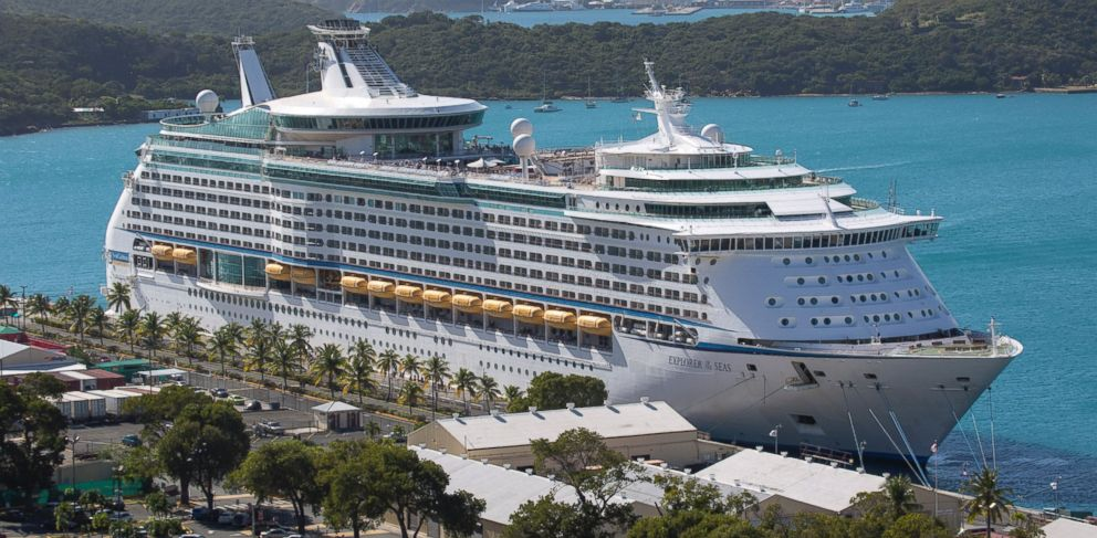 PHOTO: The Royal Caribbean Internationals Explorer of the Seas is docked at Charlotte Amalie Harbor in St. Thomas, U. S. Virgin Islands, Sunday, Jan. 26, 2014.