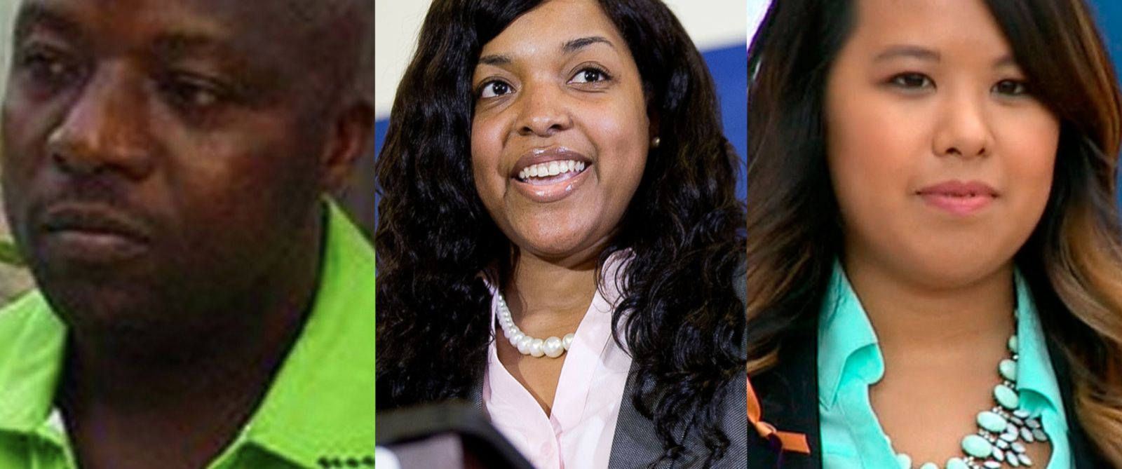 PHOTO: Thomas Eric Duncan, the first U.S. Ebola patient. | Ebola survivor Amber Vinson at a news conference on Oct. 28, 2014 in Atlanta. | Ebola survivor Nina Pham at a press conference on Oct. 24, 2014.