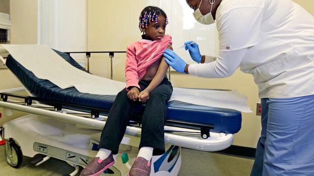 PHOTO: Four-year-old Gabriella Diaz sits as re