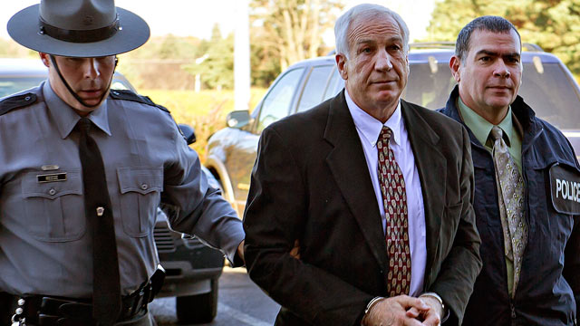 "PHOTO: Former Penn State football defensive coordinator Gerald ""Jerry"" Sandusky"