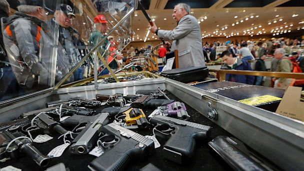 ap gun show ll 130918 16x9 608 U.S. Has More Guns   And Gun Deaths   Than Any Other Country, Study Finds