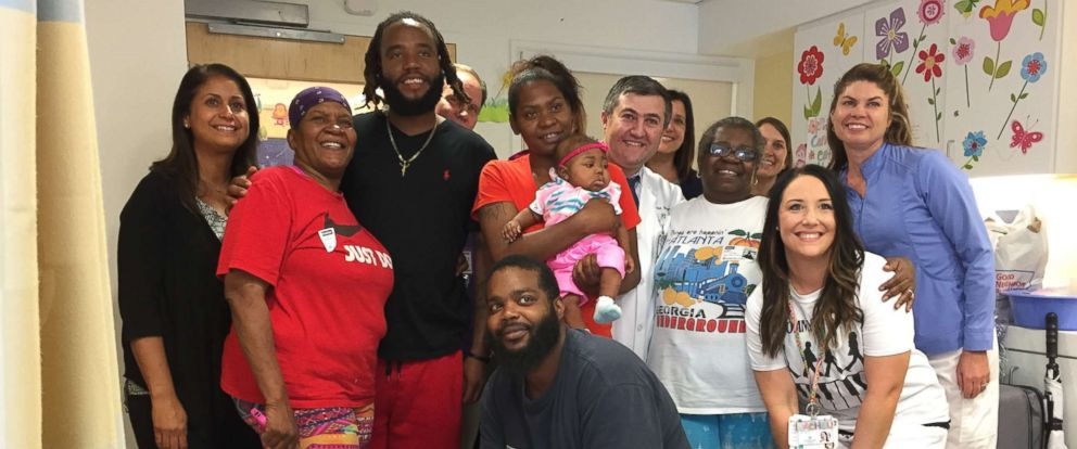 PHOTO: 7-month-old Denniya Rawls was discharged from Cleveland Clinic Childrens after undergoing a bone marrow transplant and spending four months at the hospital.
