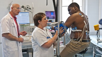 PHOTO: Cardiac stress test