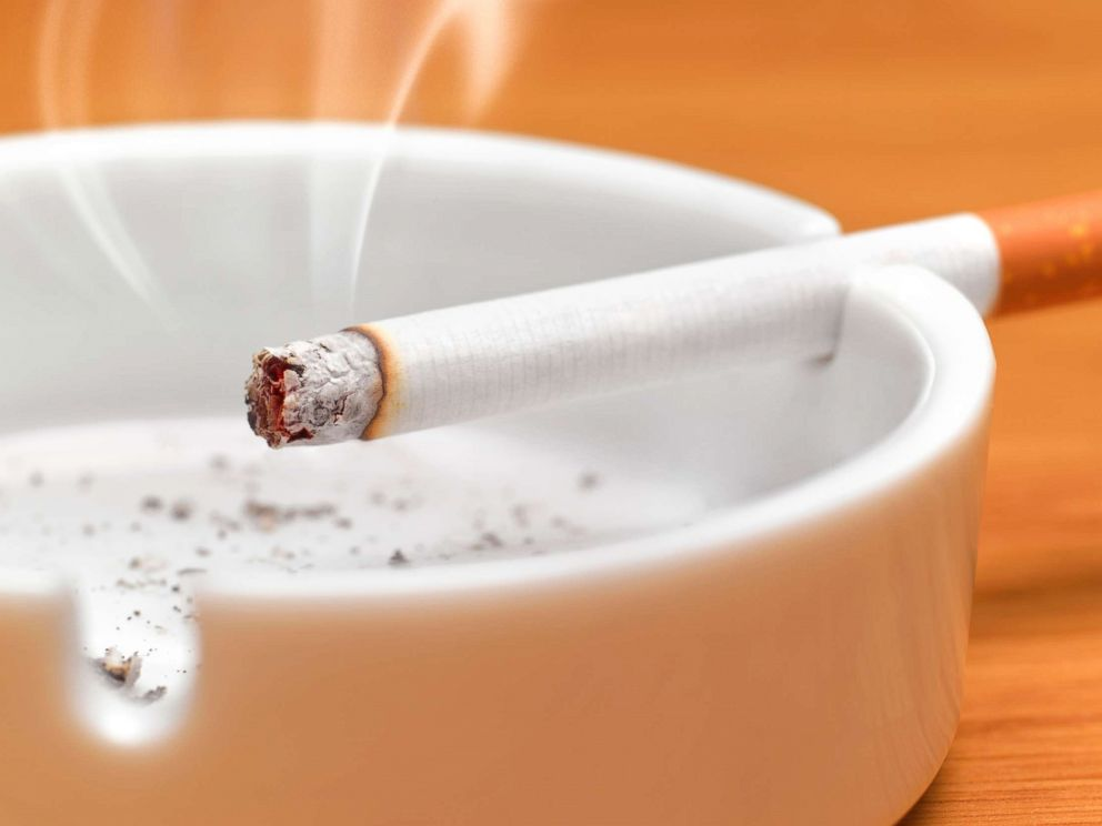 PHOTO: A cigarette sits in an ashtray in this undated stock photo.