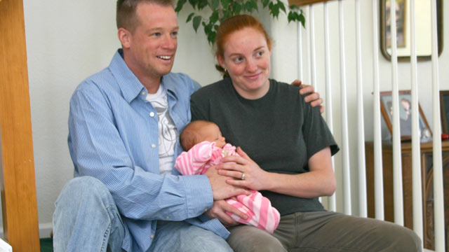 PHOTO: David and Tiffany OShell of Henderson, Colo., with their daughter, Alyssa.