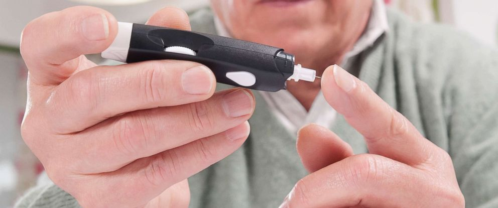 PHOTO: Testing blood sugar level in an undated stock photo.