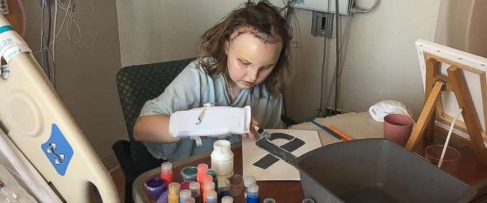 PHOTO: Emma Stumpf said that art helped her express herself as she battled a brain tumor. created Emmas Art Kits, which enables young patients who are unable to leave their beds to participate in art therapy.