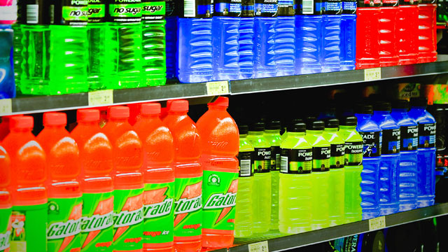 PHOTO: Most nationally known nutritionists are critical of sports drinks because most contain sugar, half as much as soft drinks, and have little special benefit for casual athletes that work out less than two hours a day.