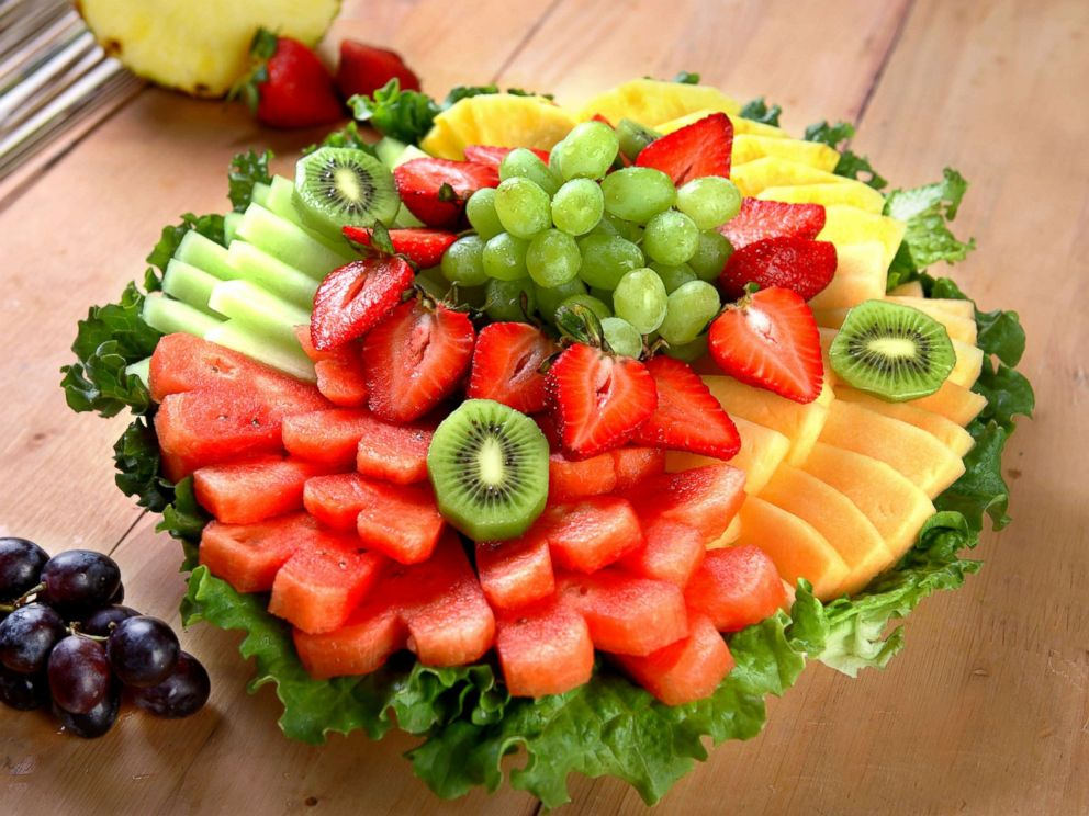 PHOTO: Fruit on a plate is seen here in this undated stock photo.