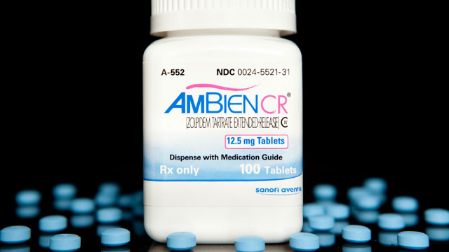 PHOTO: Pills of Sanofi-Aventis SA's insomnia medicine Ambien are arranged for a photo at New London Pharmacy in New York.