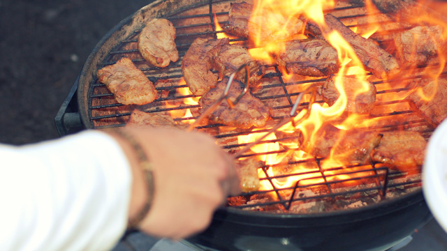 PHOTO: Open-flame barbecue