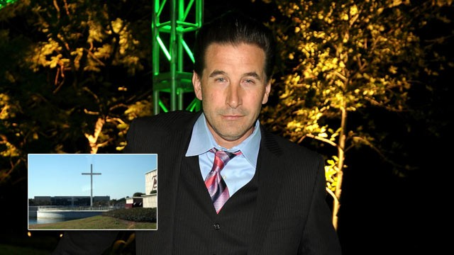 PHOTO: Sex abuse survivors angry that Billy Baldwin to film at scandal-ridden Trinity Baptist Church in Florida, seen in the picture inset.