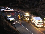 PHOTO: Police and ambulance at scene of road accident