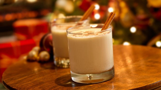 Egg Nog, seen here with ground nutmeg and cinnamon stick, is a classic ...