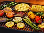 PHOTO: Vegetables on barbecue grill