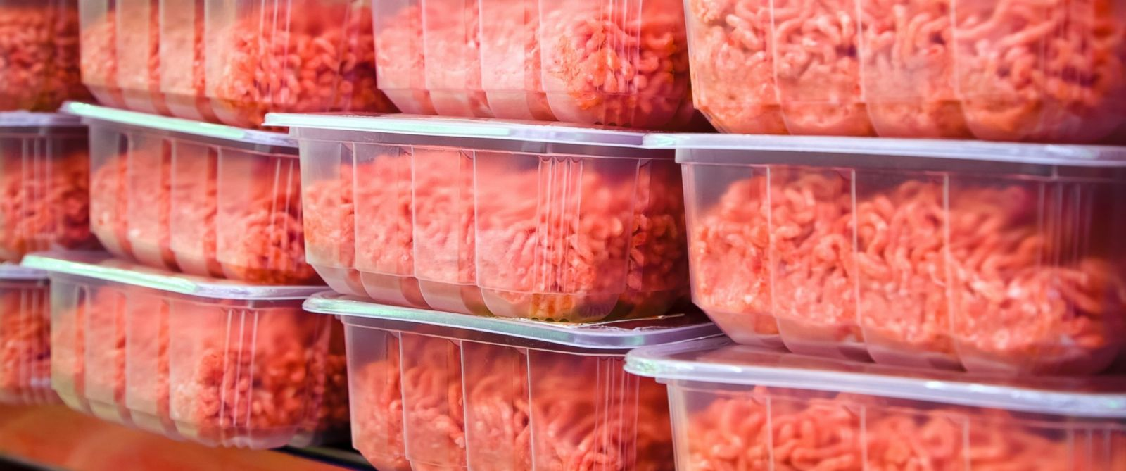 PHOTO:Ground beef in plastic containers are seen in this undated file image.