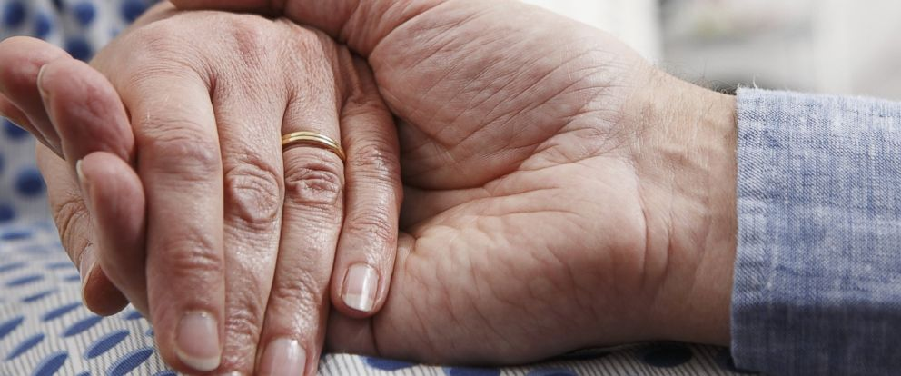PHOTO: A senior couple holds hands in an undated stock photo.