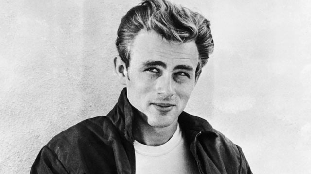 PHOTO: James Dean, leaning against a wall on the set of director Nicholas Ray's film, 'Rebel Without a Cause', 1955.