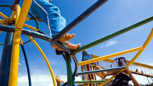 PHOTO: Overprotective parents anxious for their children not to be hurt on playgrounds, actually may be harming their social and emotional development.