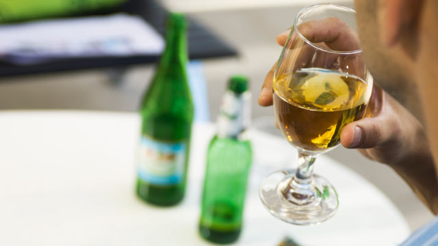 Alcoholic Signs Drinking Alone S