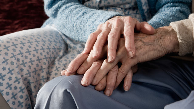 PHOTO: Intimate relationships between senior couple at nursing homes are often stifled by safety fears.