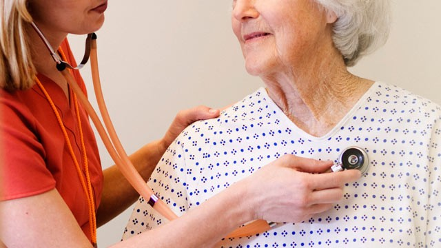 PHOTO: Elderly women diagnosed with atrial fibrillation are at higher risk of stroke.