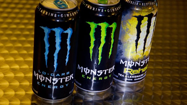 PHOTO: Monster Energy drinks