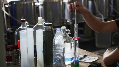 PHOTO: The whiskey making process is tested at a distillery in New York, Sept. 22, 2012.