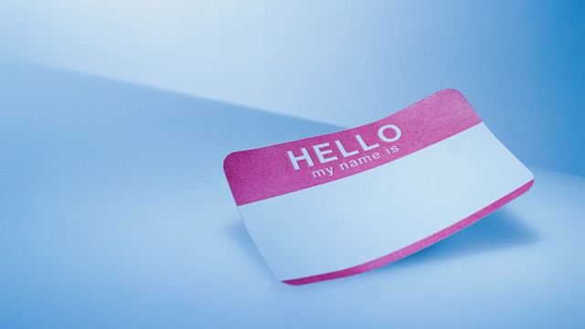 PHOTO: 'Hello My Name is' sticker