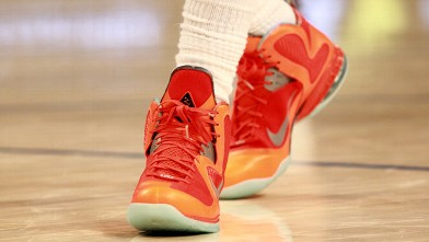PHOTO: Nike sneakers worn by LeBron James #6 of the Miami Heat and the Eastern Conference during the 2012 NBA All-Star Game at the Amway Center on Feb. 26, 2012 in Orlando, Fla.