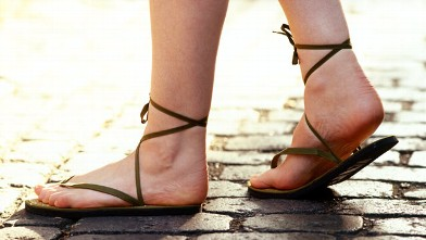 PHOTO: A woman wears a pair of sandals in this undated file photo.