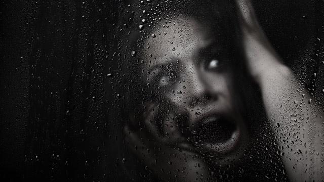 PHOTO: Scared woman