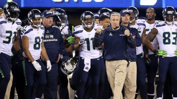 PHOTO: Head coach Pete Carroll of the Seattle Seahawks