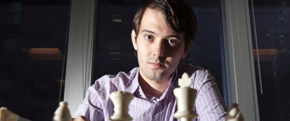 PHOTO: Martin Shkreli, chief investment officer of MSMB Capital Management, sits for a photograph behind a chess board in New York, Aug. 10, 2011.