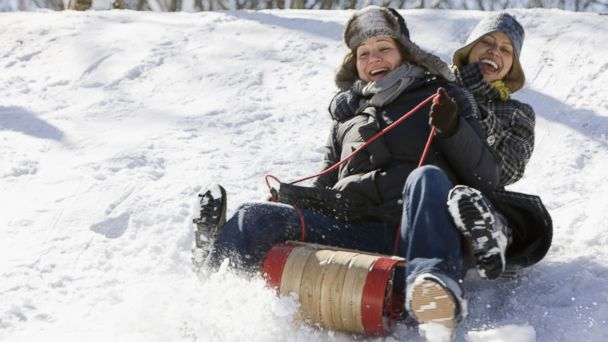 PHOTO: Each year, 33,000 people visit the emergency room due to sledding accidents.